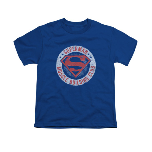 Image for Superman Youth T-Shirt - Muscle Club