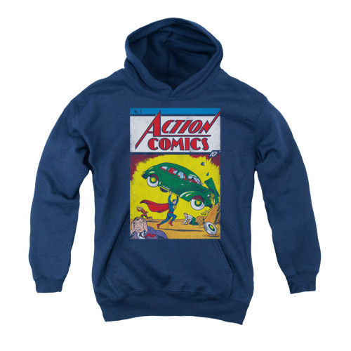 Image for Superman Youth Hoodie - Action No. 1