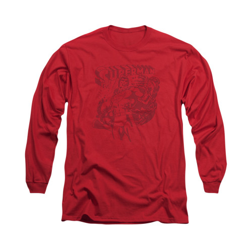 Image for Superman Long Sleeve Shirt - Code Red