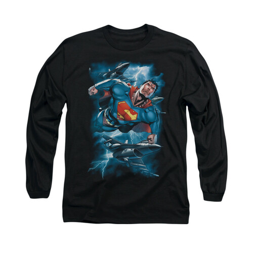 Image for Superman Long Sleeve Shirt - Stormy Flight