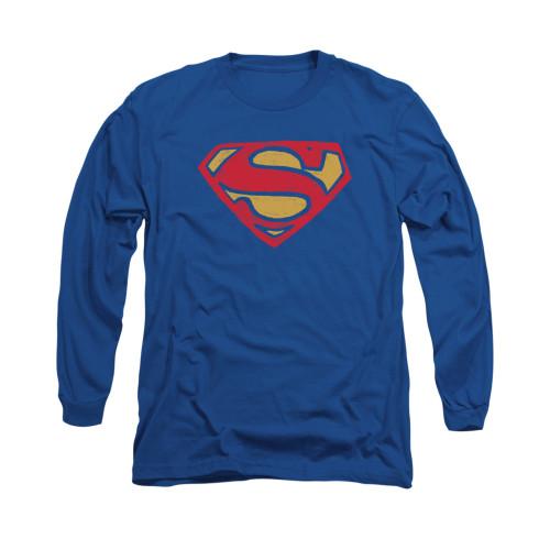 Image for Superman Long Sleeve Shirt - Super Rough