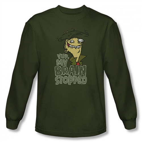 Image for Ed Edd n Eddy Brain Dead Ed Long Sleeve T-Shirt