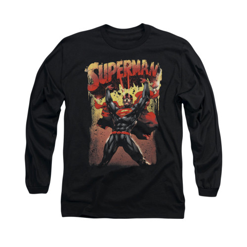 Image for Superman Long Sleeve Shirt - Lift Up