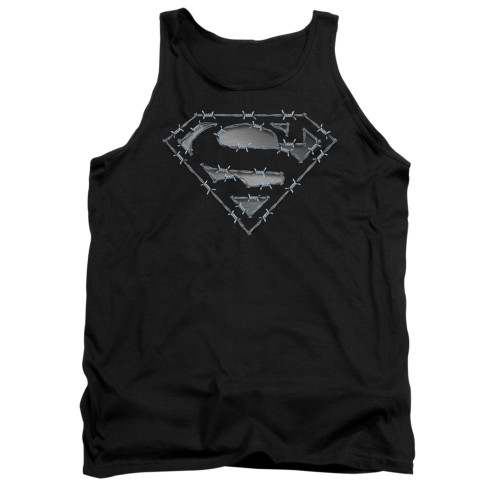 Image for Superman Tank Top - Barbed Wire