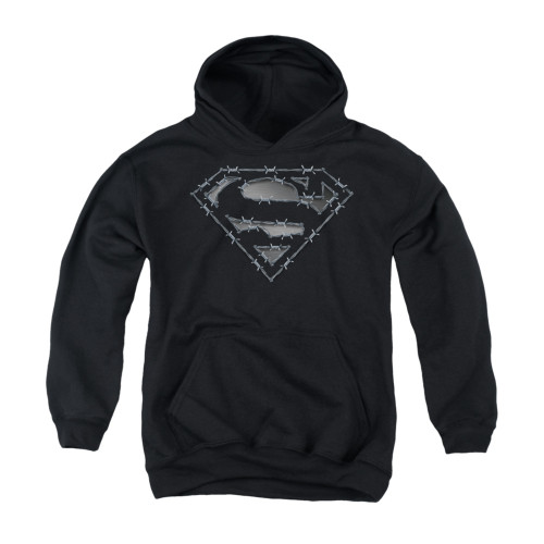 Image for Superman Youth Hoodie - Barbed Wire