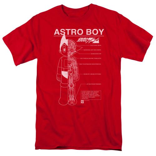 Image for Astro Boy T-Shirt - Schematics