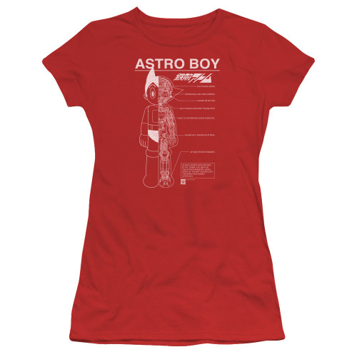 Image for Astro Boy Girls T-Shirt - Schematics