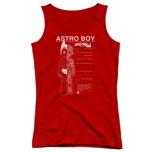 Image for Astro Boy Girls Tank Top - Schematics