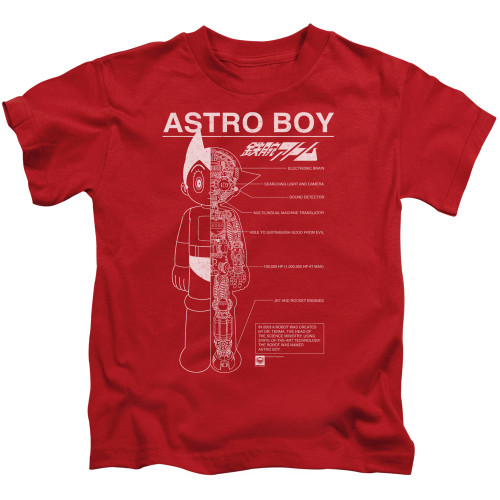 Image for Astro Boy Kids T-Shirt - Schematics