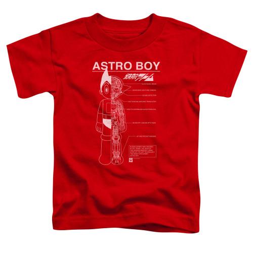 Image for Astro Boy Toddler T-Shirt - Schematics