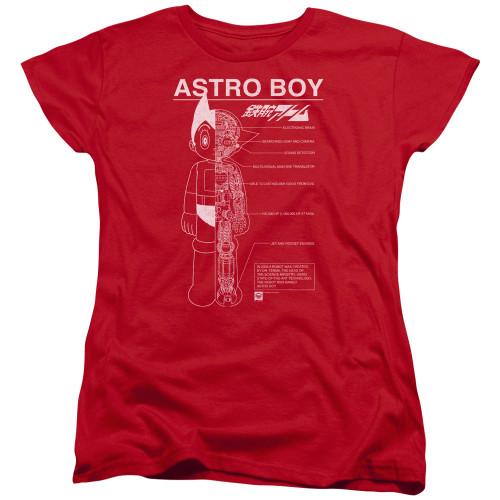 Image for Astro Boy Womans T-Shirt - Schematics