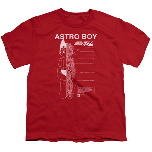 Image for Astro Boy Youth T-Shirt - Schematics