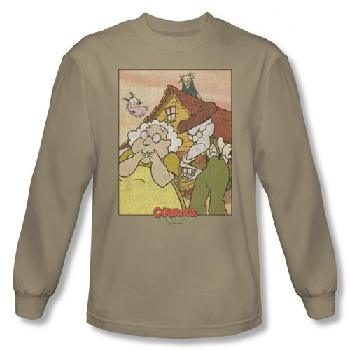 Image for Courage the Cowardly Dog Gothic Courage Long Sleeve T-Shirt