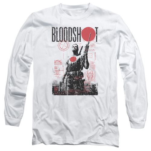 Image for Bloodshot Long Sleeve Shirt - Death By Tech