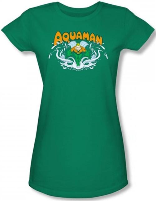Image for Aquaman Splash Girls Shirt