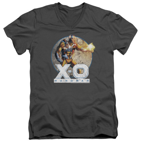 Image for X-O Manowar V Neck T-Shirt - Vintage Manowar