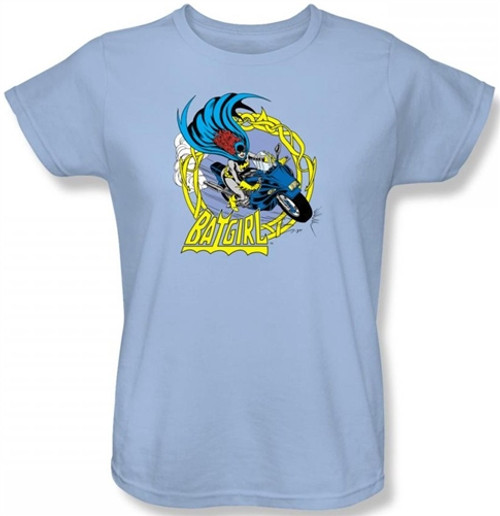 Image for Batgirl Motorcycle Woman's T-Shirt