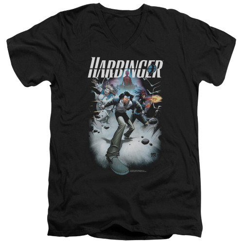 Image for Harbinger V Neck T-Shirt - Flame Eyes