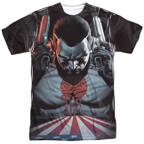 Image for Bloodshot Sublimated T-Shirt - World on Fire 100% Polyester