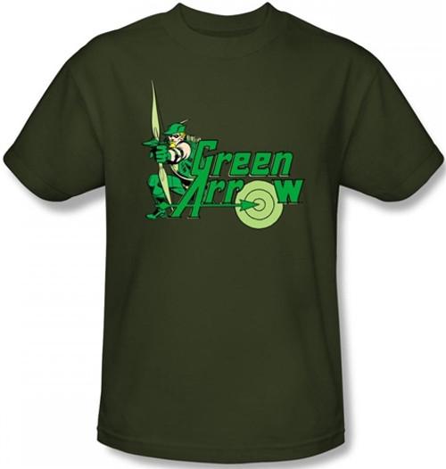 Image Closeup for Green Arrow T-Shirt