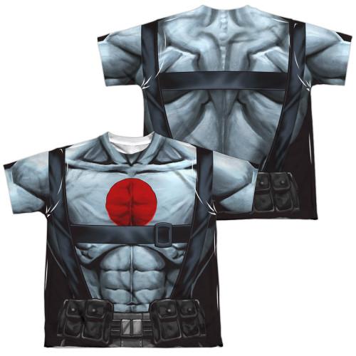 Image Closeup for Bloodshot Sublimated Youth T-Shirt - Shirtless Straps