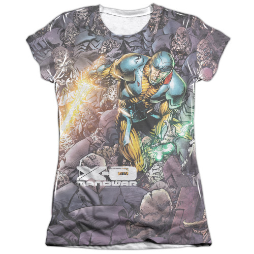 Image detail for X-O Manowar Girls Sublimated T-Shirt - Surrounded