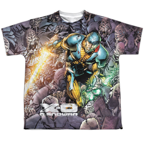 Image for X-O Manowar Sublimated Youth T-Shirt - Surrounded 100% Polyester