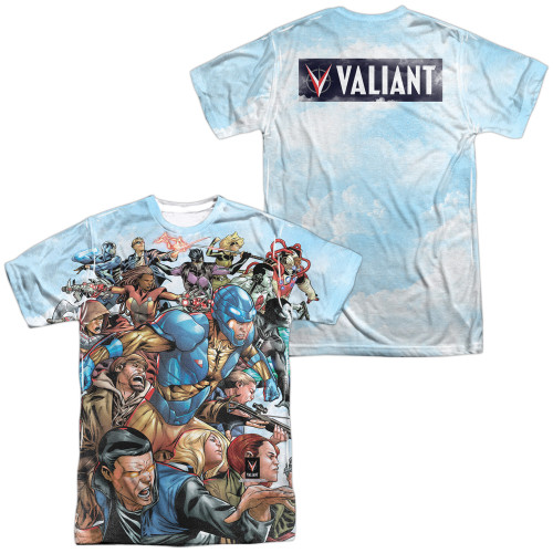 Image Closeup for Valiant Sublimated T-Shirt - Coming At You