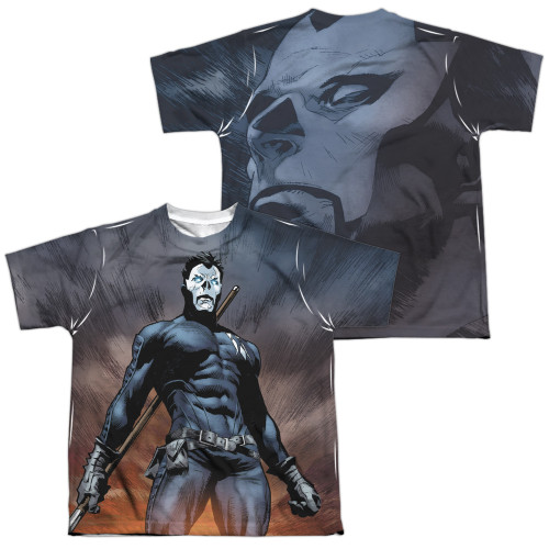 Image Closeup for Valiant Sublimated Youth T-Shirt - Shadowman Stand Tall
