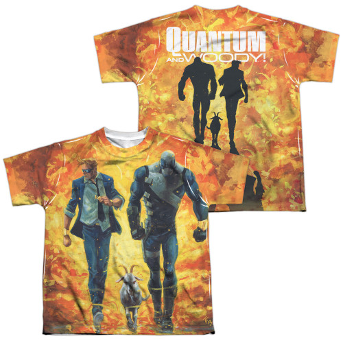 Image Closeup for Valiant Sublimated Youth T-Shirt - Quantum and Woody Fire It Up