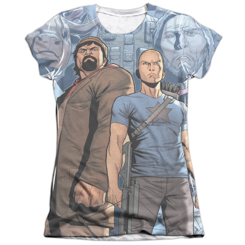Image detail for Valiant Girls Sublimated T-Shirt - Archer & Armstrong Heroes