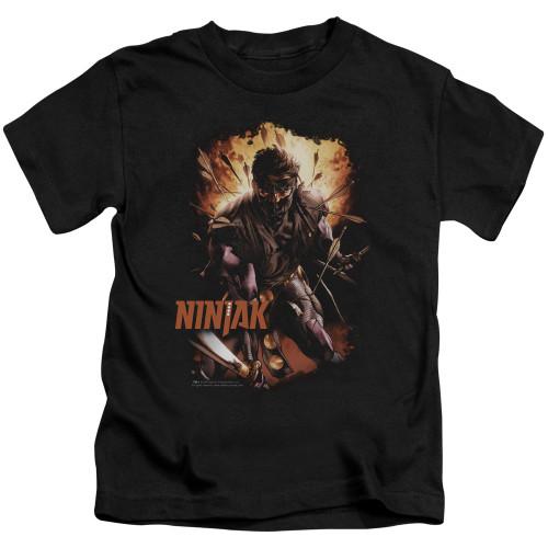 Image for Ninjak Kids T-Shirt - Fiery
