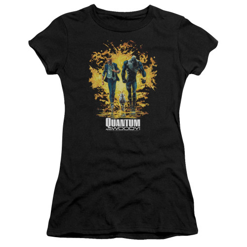 Image for Quantum and Woody Girls T-Shirt - Explosion