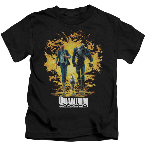 Image for Quantum and Woody Kids T-Shirt - Explosion