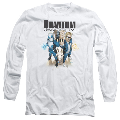 Image for Quantum and Woody Long Sleeve Shirt - Fists Up!