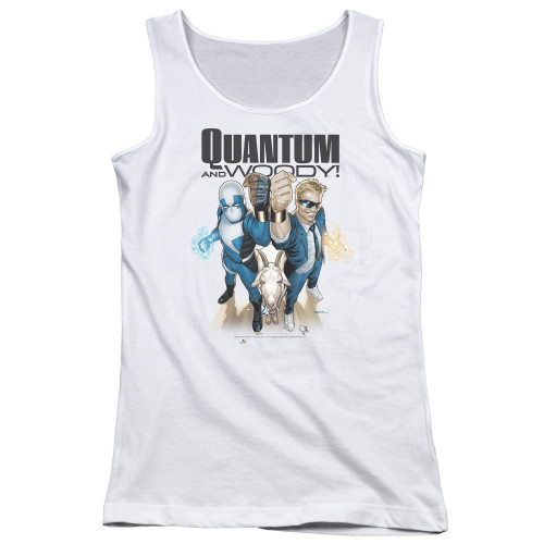 Image for Quantum and Woody Girls Tank Top - Fists Up!