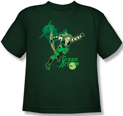 Image for Green Arrow in Action Youth T-Shirt
