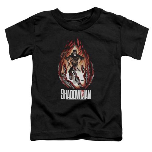 Image for Shadowman Toddler T-Shirt - Burst