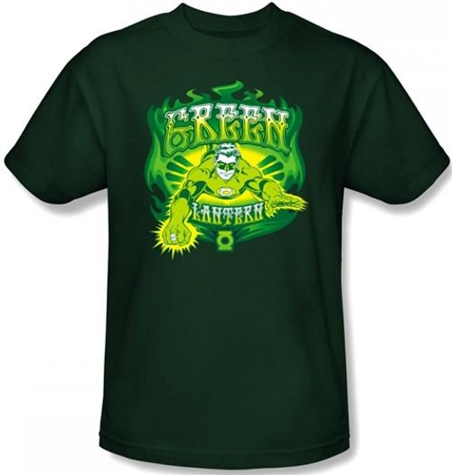 Image for Green Lantern Green Flames T-Shirt
