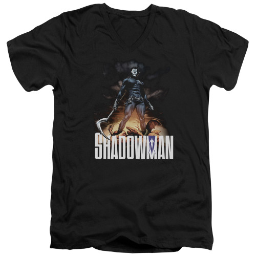 Image for Shadowman V Neck T-Shirt - Victory