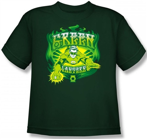 Image for Green Lantern Green Flames Youth T-Shirt