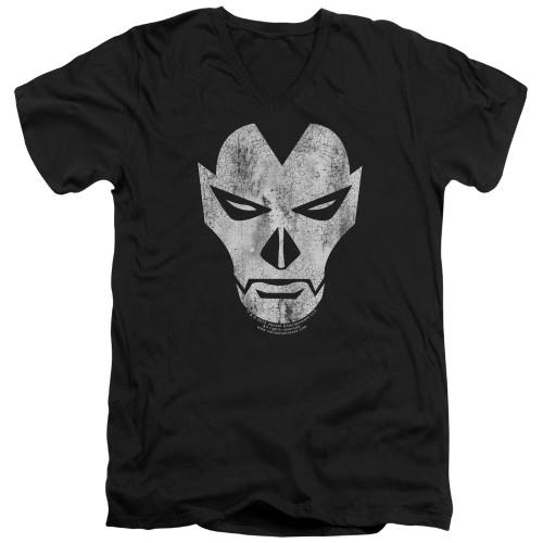 Image for Shadowman V Neck T-Shirt - Face