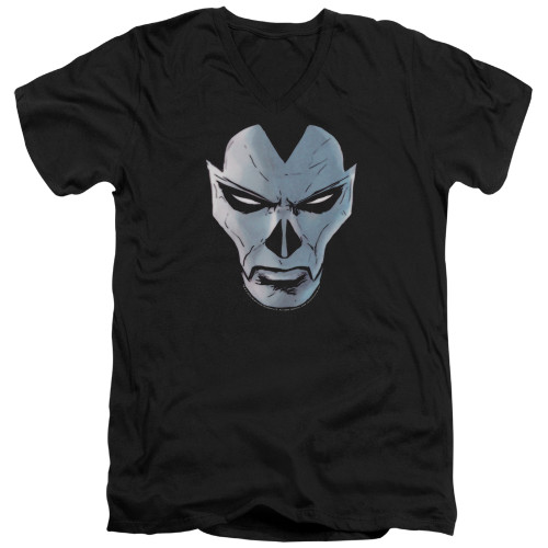 Image for Shadowman V Neck T-Shirt - Comic Face