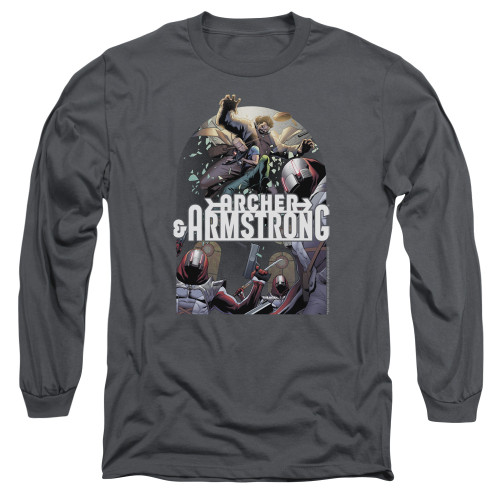 Image for Archer & Armstrong Long Sleeve Shirt - Dropping In