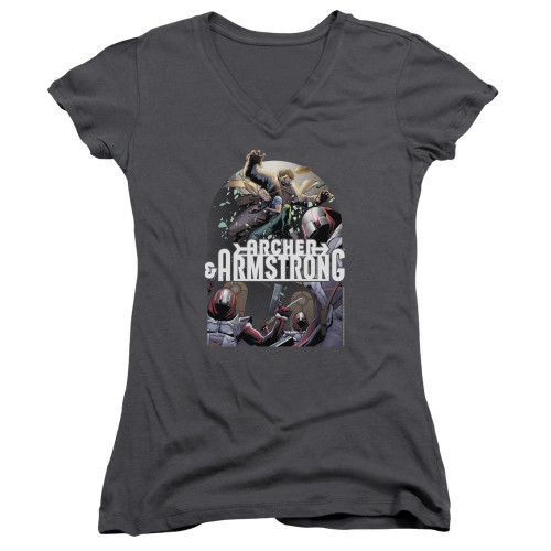 Image for Archer & Armstrong Girls V Neck - Dropping In