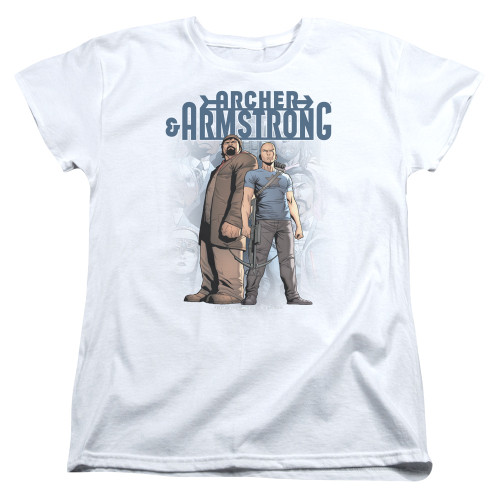 Image for Archer & Armstrong Womans T-Shirt - Two Against All