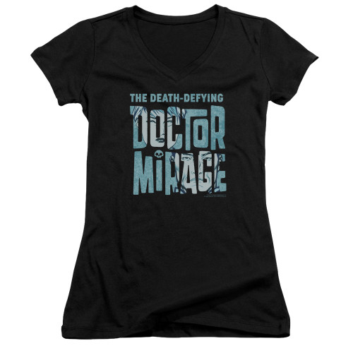 Image for Doctor Mirage Girls V Neck - Character Logo