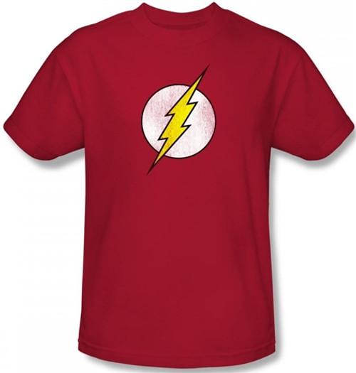 Image Closeup for Flash Distressed Logo T-Shirt