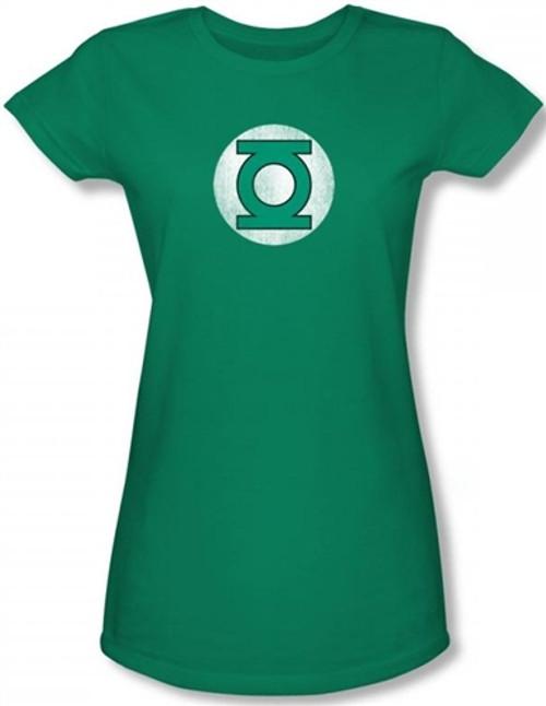 Image for Green Lantern Distressed Logo Girls Shirt