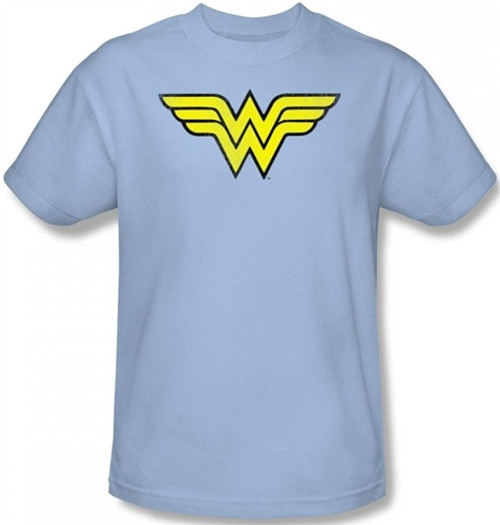 Image for Wonder Woman Distressed Logo T-Shirt